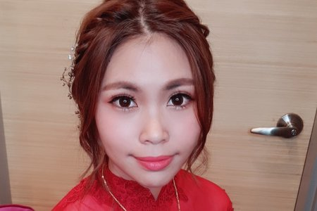 台南市新娘單妝整體造型設計