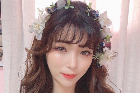 日韓系自然輕透妝感 編髮甜美 輕線條造型,Ellie知璇新娘秘書,新秘