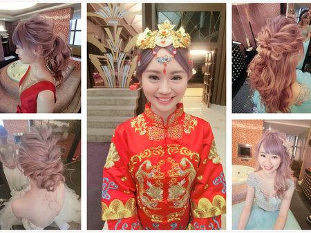 新秘RITA 新娘秘書 bride-阿吹 髮絲感 線條感 髮絲感盤髮 浪漫捲髮