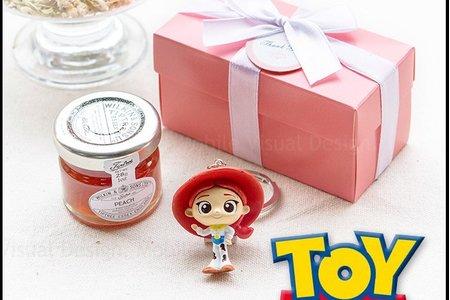 Pink盒 玩具總動員鑰匙圈+果醬小禮盒