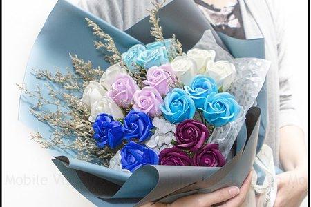 愛你每一天 21朵玫瑰香皂花花束