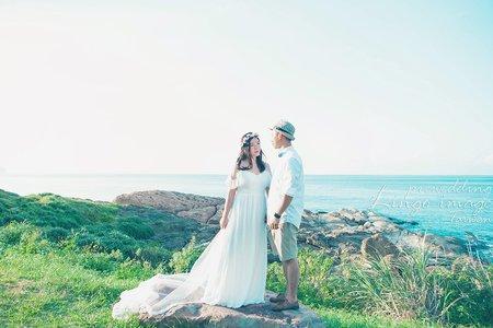 【台北旅行婚紗】九份玩拍輕婚紗。自然系
