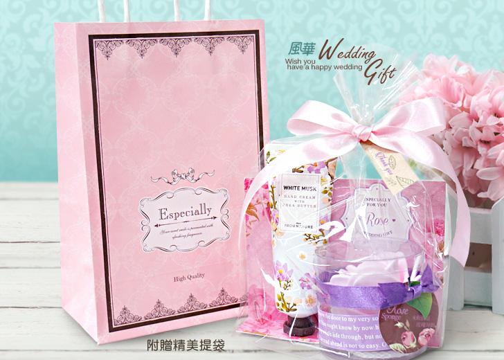 玫瑰海綿護手霜禮盒組,抽捧花送姊妹最合適