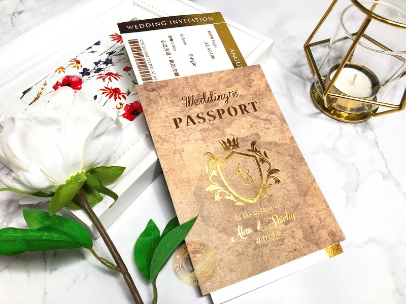 護照造型喜帖