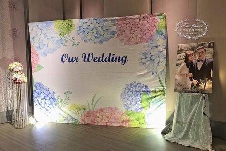 $8800專人婚禮佈置收場(紫陽花園)