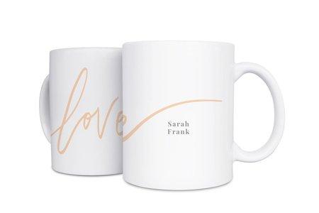 白瓷馬克杯-L O V E