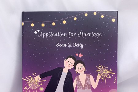 手繪人物結婚書夾♡結婚證書/結婚書約