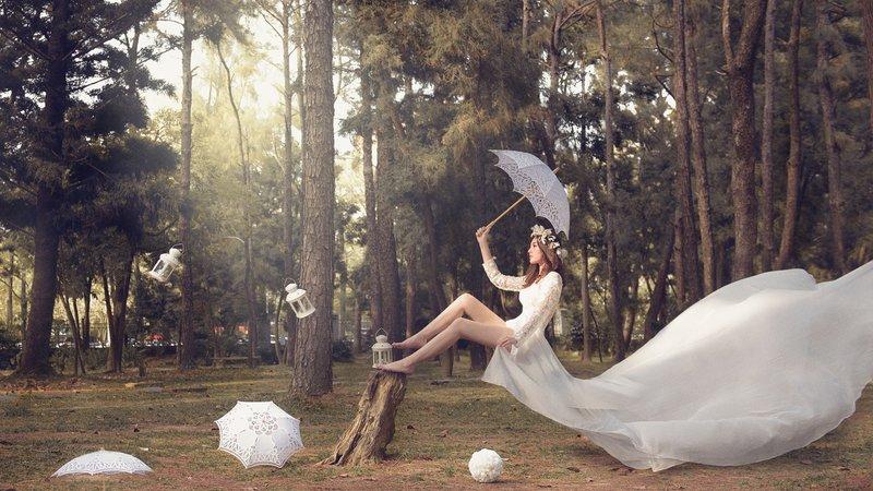 漂浮婚紗、懶人包、道具、拍婚紗