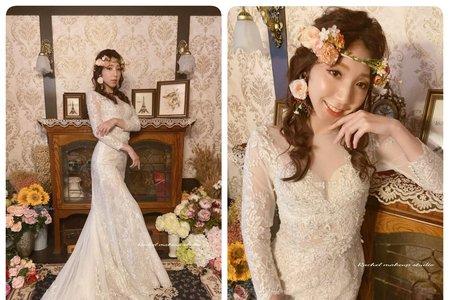 Rachel - 玫瑰花雅致浪漫白紗造型