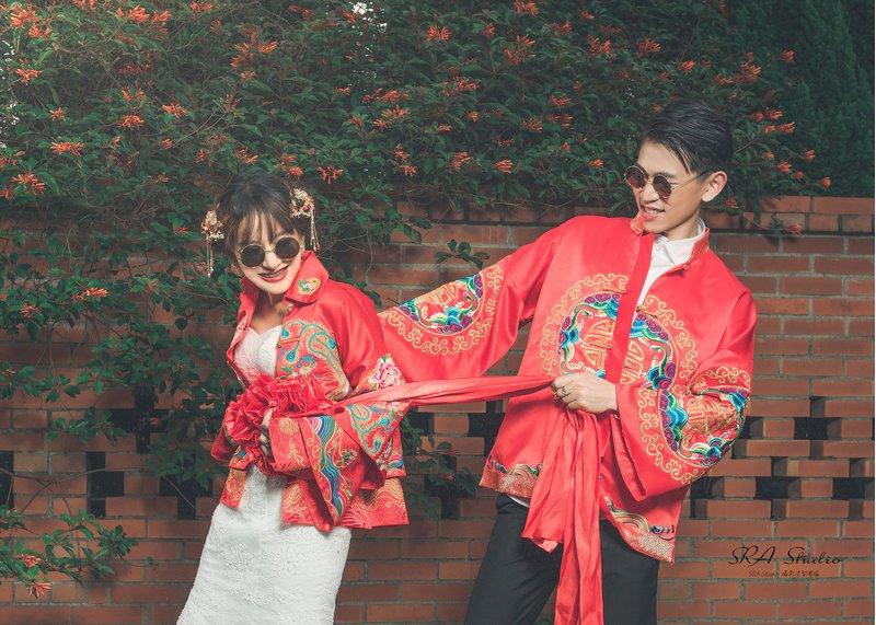 時尚中式婚紗,這樣拍好逗趣