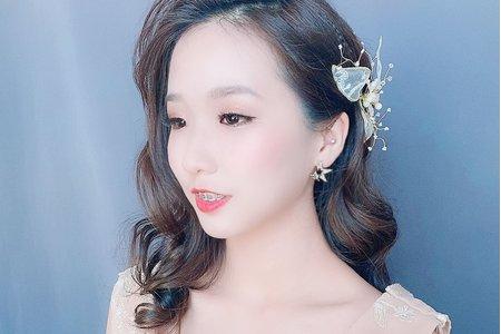 Sandy 芯儀彩妝造型x優雅浪漫波浪捲