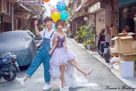 台北市街頭婚紗