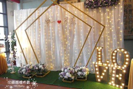 五角拱門燈布幔~.....in台南東區德篙里活動中心