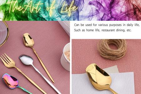 玫瑰愛心叉勺  環保時尚餐具