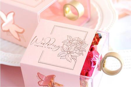 花朵設計 抽屜式喜糖盒