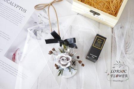 婚禮小物 伴娘禮 木盒 擴香 禮盒