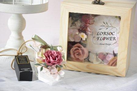 婚禮小物 擴香 裝飾木盒 伴娘禮