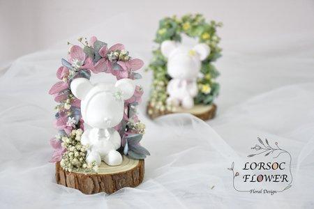 婚禮小物 小熊花拱門 擴香石