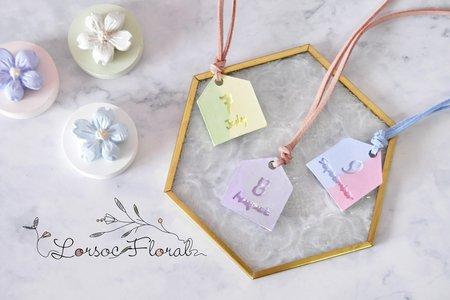 婚禮小物 擴香石 十二月份吊牌