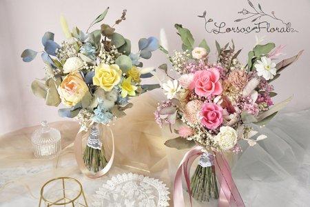 自然手綁型永生捧花 乾燥捧花 新娘捧花