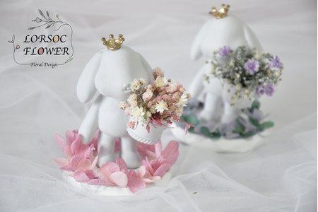 婚禮小物 垂耳兔擴香石禮盒 伴娘禮