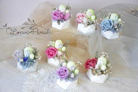 婚禮小物 擴香仙人掌盆花 伴娘禮